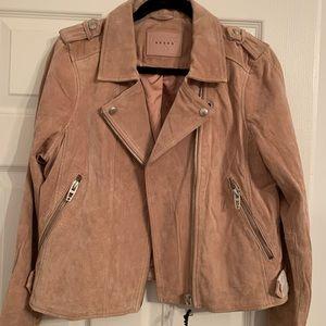 Blank NYC blush suede jacket